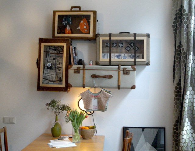 Ons 'koffer showroom project' met special geselecteerd Hollandse design items.